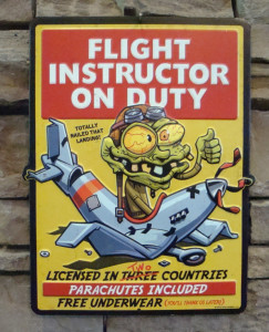 flight-instructor-on-duty-metal-sign-pilot-airplane-plane-flying-parachute-new-3d84dad07ffc0168ec09248e15d34596